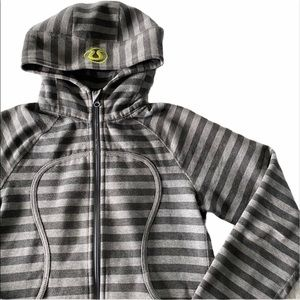Lululemon Remix Scuba Hoodie Parallel Stripe Gray